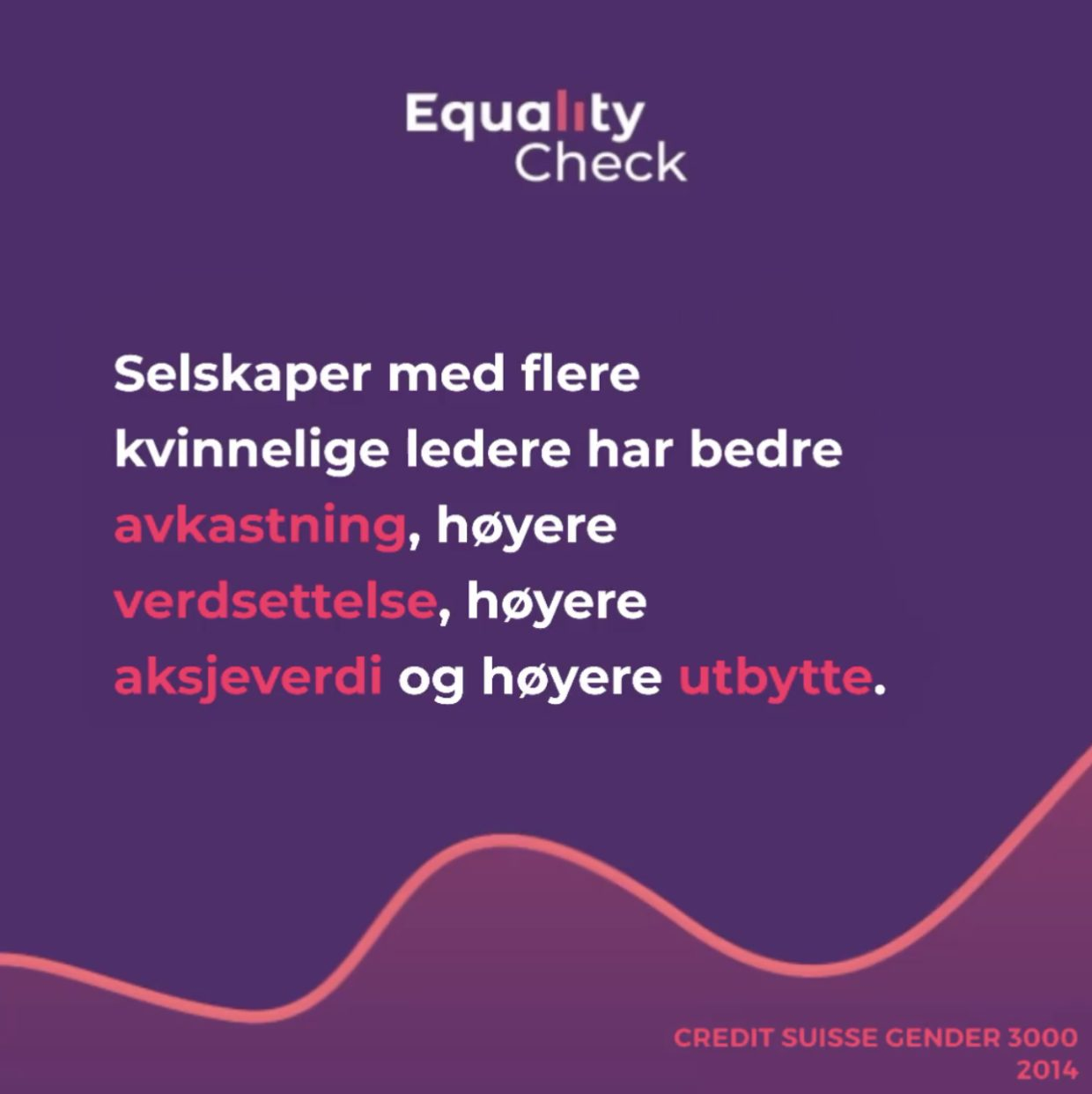 A screenshot of Equality Check's statement