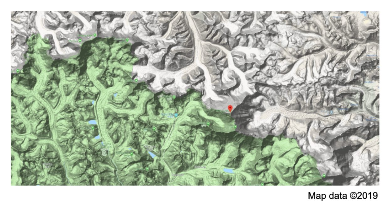 An overview of a map with a peak