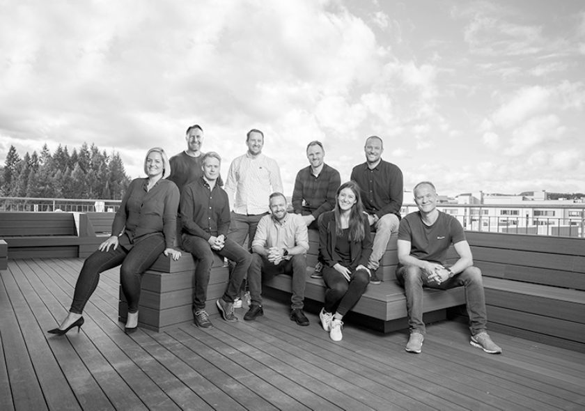 Team Norselab in black and white