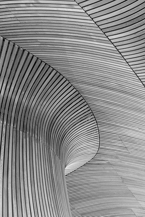 Pattern in a wooden installation